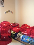 My bags all ready for London