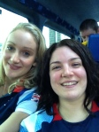 Amy & I on the bus!
