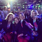 Gorgeous girls at the closing ceremony