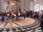GB Women's Wheelchair Basketball Team in St Paul's Cathedral
