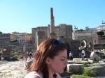 Sarah Grady at Roman Forum