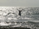 Mike in the sea
