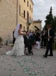Chiara outside the church