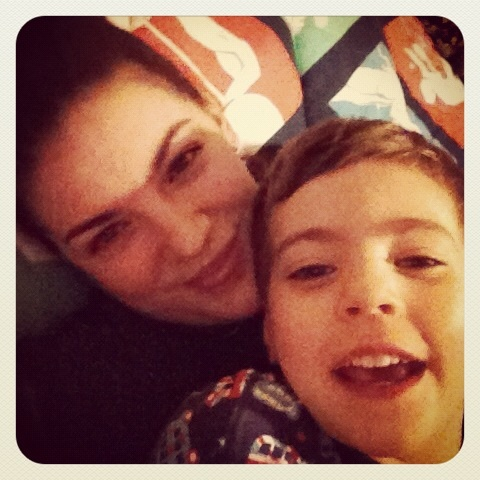 Me and my baby boy before bed one night!