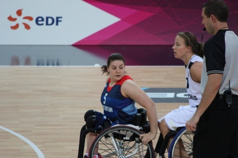 Sarah playing against Germany